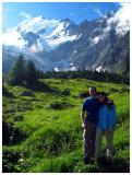Picture with Mont Blanc and Glacier de Bionnassay