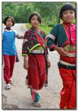 Silver Palaung Girls - walking home from school