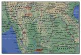 Map of Northern Thailand