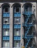 Blue Fire Escape