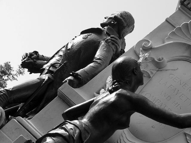 General Lafayette Memorial Detail