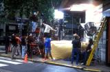 Movie crew working on the streets of Buenos Aires