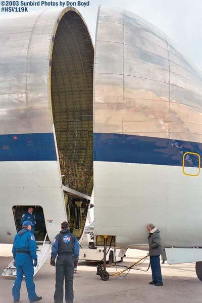 NASAs Aerospacelines 777SGT-201F N941NA aviation air show stock photo #HSV119K_024