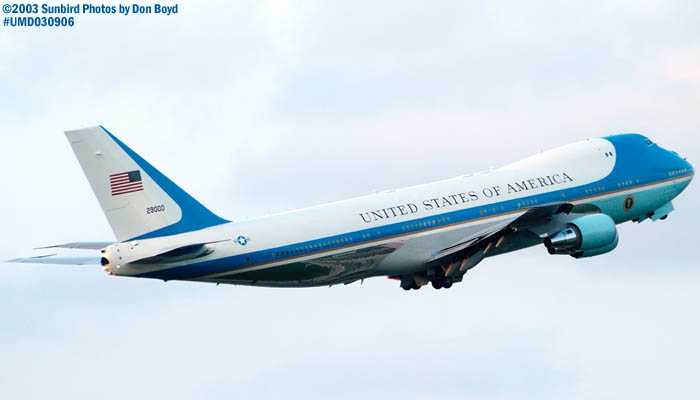 USAF VC-25A 92-9000 (29000) Air Force One departing with President George W. Bush onboard #7110