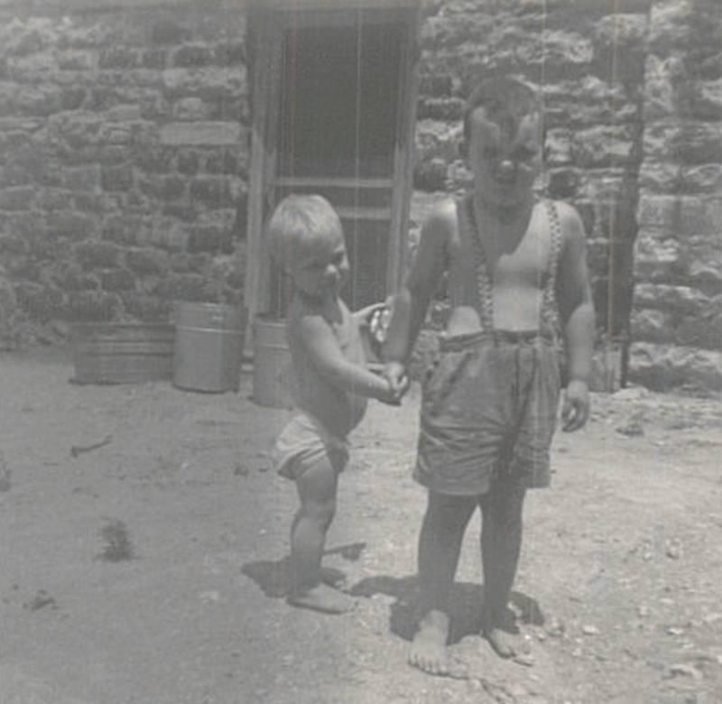 Junior Erwin and Steve Cavanah 1953