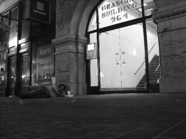 Sidewalk Sleeper - 6th Ave.