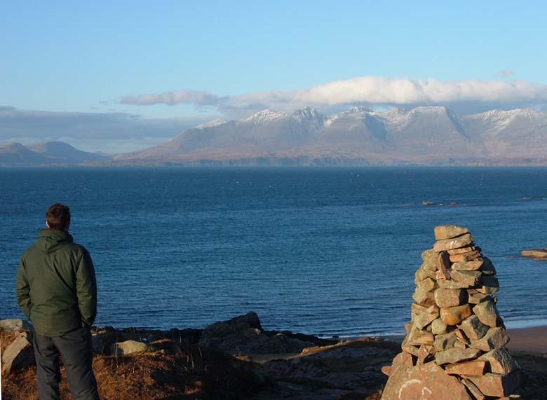 Cuillins Skye from Rum
