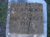 J. B. Roberson b. 1871 d. 1951