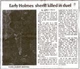 Sheriff Daniel Jackson Brownell - Holmes Co FL - Killed November 26, 1872