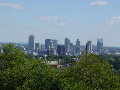 Skyline from Love Circle in West Nashville