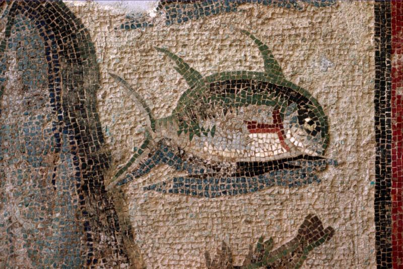 Antakya mosaic Oceanus (detail)