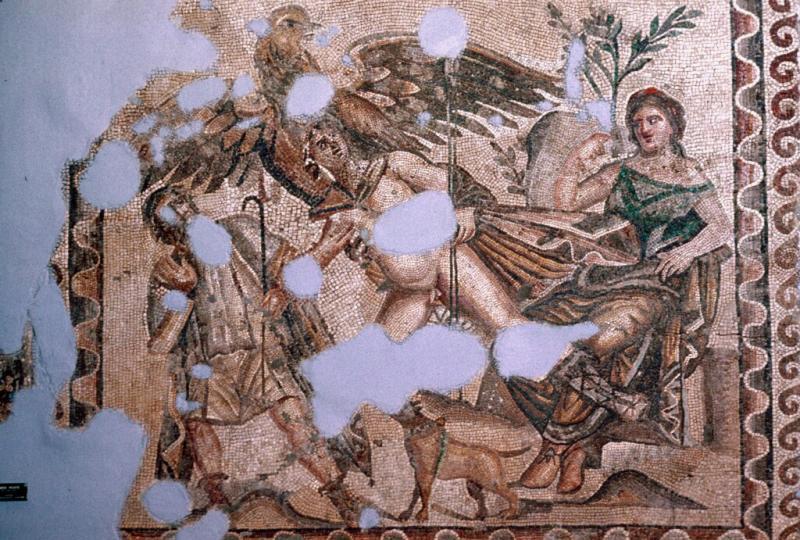 Antakya mosaic Ganymede