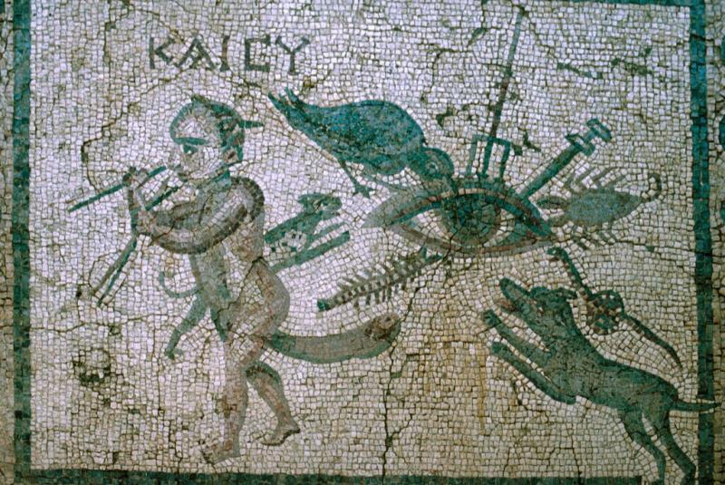 Antakya mosaic with Evil Eye.