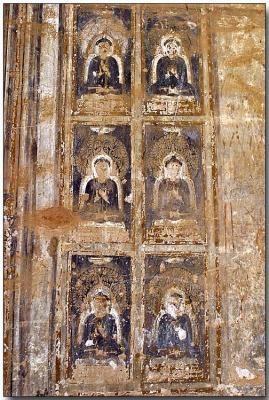 Temple wall graphic - Bagan