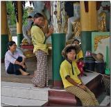 Young Burman ladies, Yangon