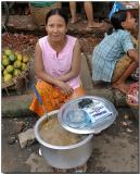 Hot soup - Nyaungoo village market, Bagan