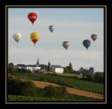 Flying over Brissac-Quincé village