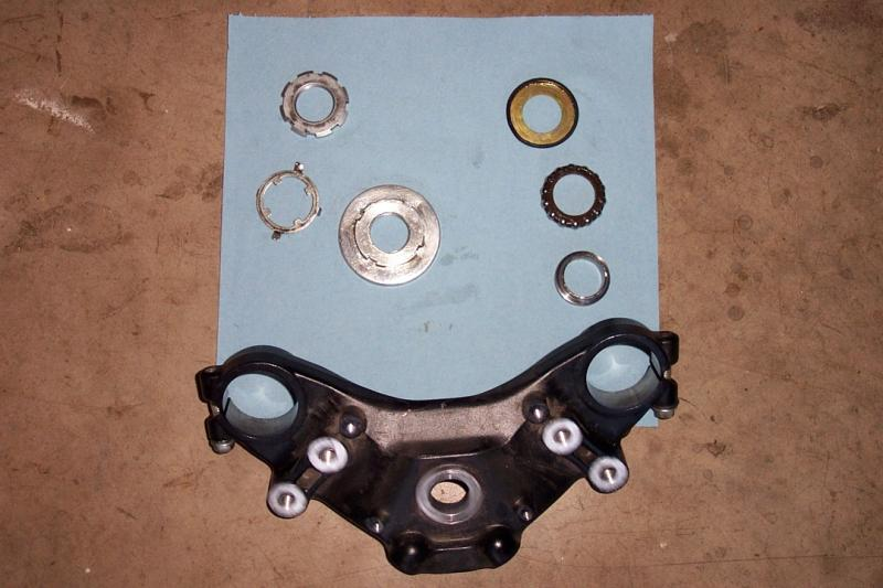 Here are the top bearing components removed