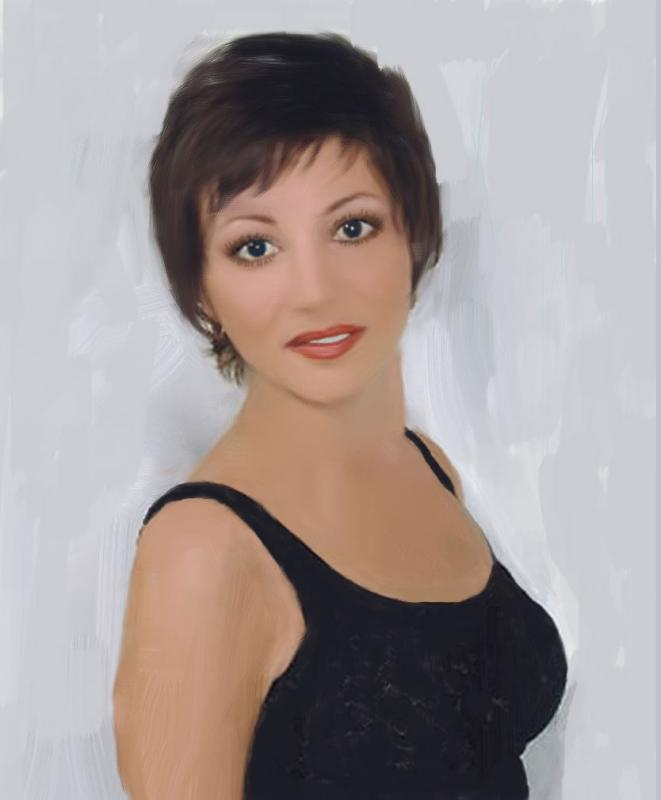 Photo painted in Painter