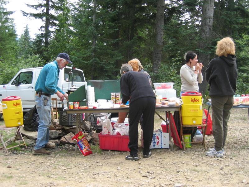 Stampede Pass aid station<br>Mile 35.5</br>