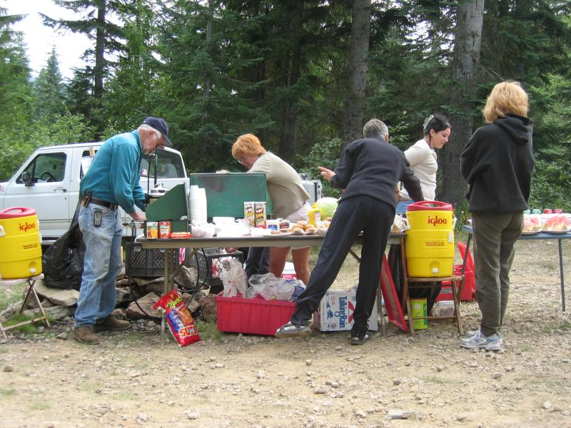 Stampede Pass aid station 2
