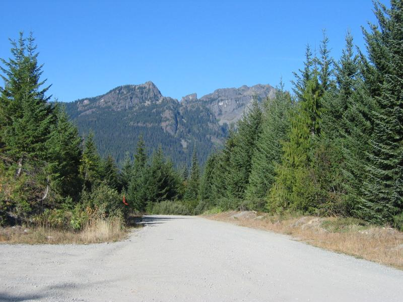 View from the turn off to No Name Ridge