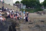 Spectators enjoy the battle.