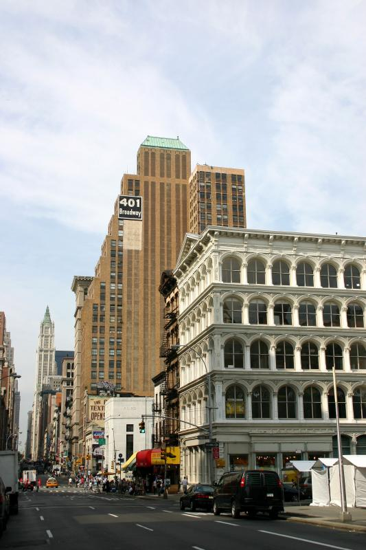 Broadway  at Howard  Street - Looking Downtown