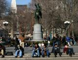 At the George Washington Statue