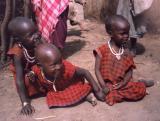 Masai village - children