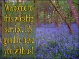 'Welcome' slide from the 'Bluebell' series