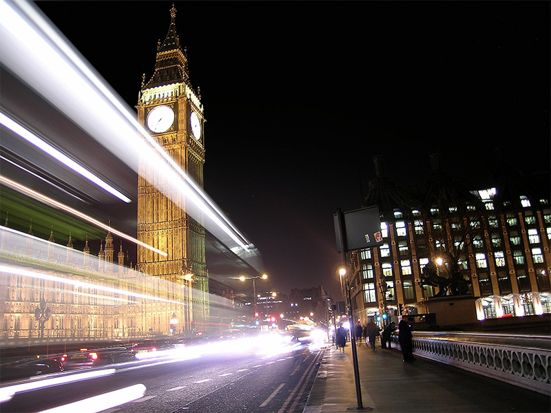 UK Houses of Parliment (Big Ben), from Westminster Bridge