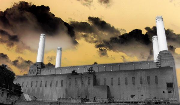 Battersea Power station. Acid rain.