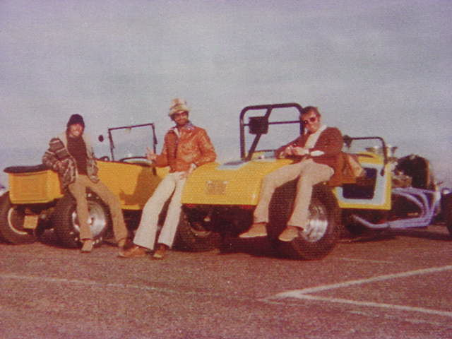John Sandy, Bill Hart, & Friend<br>photo taken at south mountain park<br>Phoenix Arizona USA