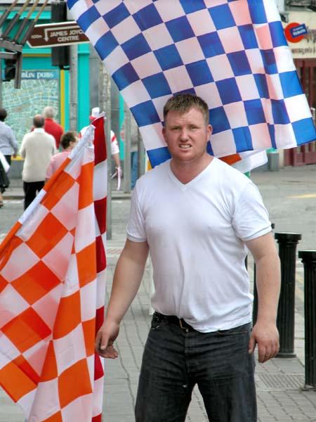 Hurling supporter flags vendor (Dublin)