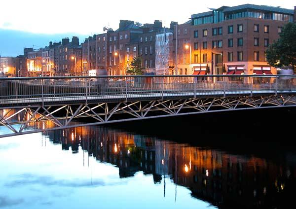 The Millenium Bridge - (Dublin, Ireland)