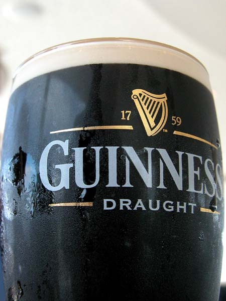 A Pint of Guinness - Guinness Panorama Sky Bar (Dublin)
