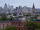View of downtown Baltimore from top of Pagoda in Patterson Park