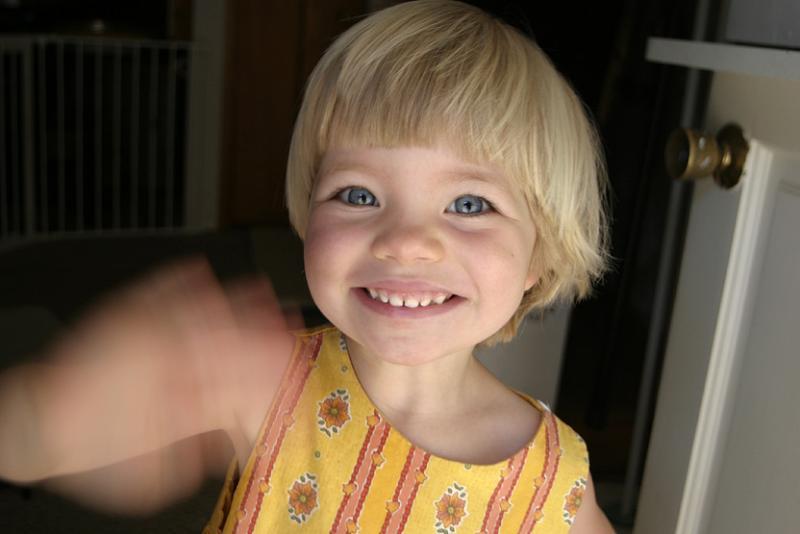 Hannah at 33 months