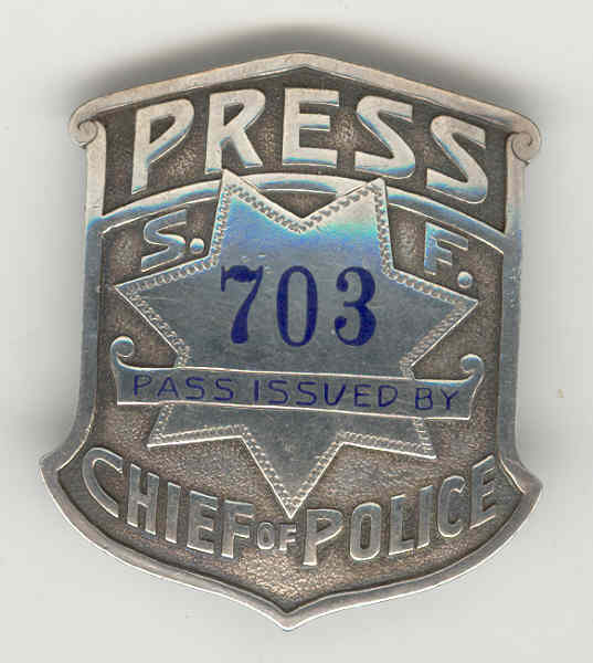 san francisco chief of police press badge