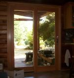 Sierra Pacific patio slider. Fir interior/aluminum clad exterior.