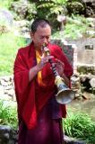 teaching at monastery in Sikkim