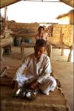 Bishnoi village near Jodhpur making opium tea