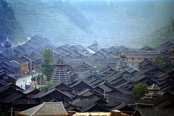 five drum towers in Zhaoxing.jpg