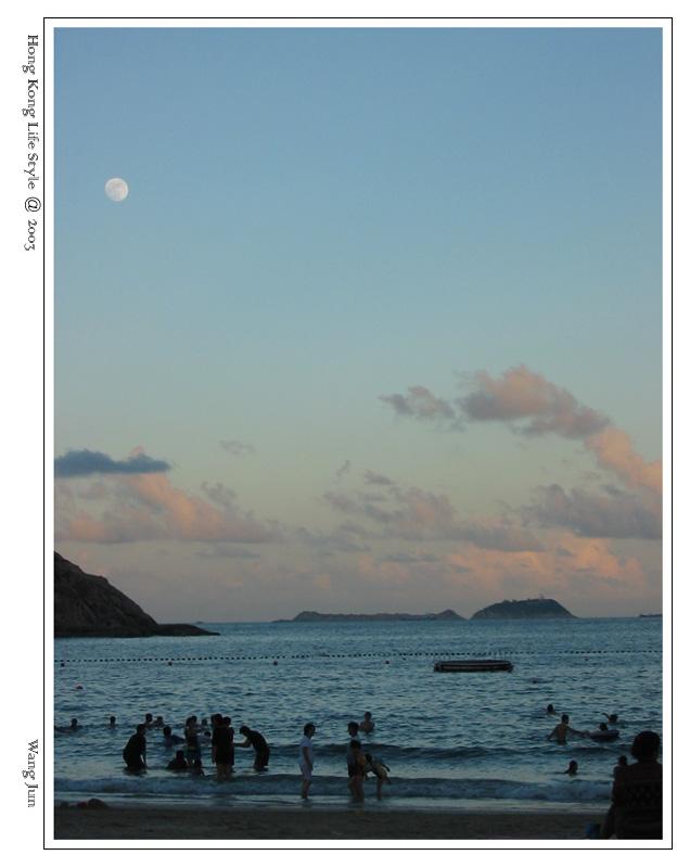 月光下的石澳海滩 6:50pm
