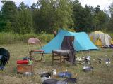The guy camp...