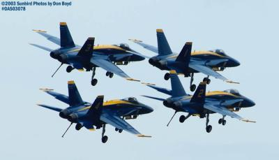USN Blue Angels military aviation air show stock photo #6907