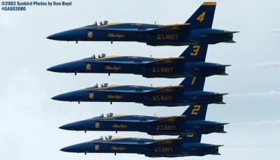 USN Blue Angels F/A-18 Hornets military aviation air show stock photo #6917