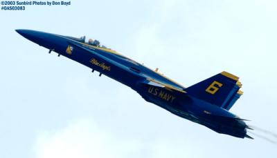 USN Blue Angels F/A-18 Hornets military aviation air show stock photo #6926