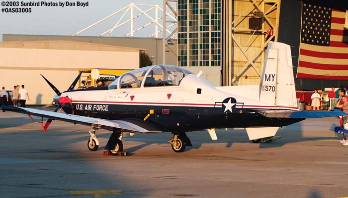 USAF T-6A Texan II AF00-570 military aviation air show stock photo #6725